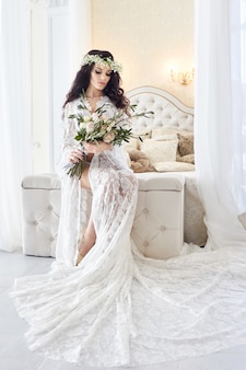 Blanc négligé mariée, préparer la cérémonie de mariage