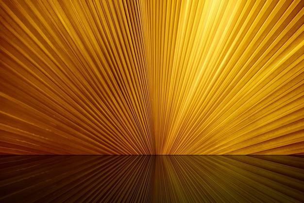 Blanc de la table supérieure et fond doré