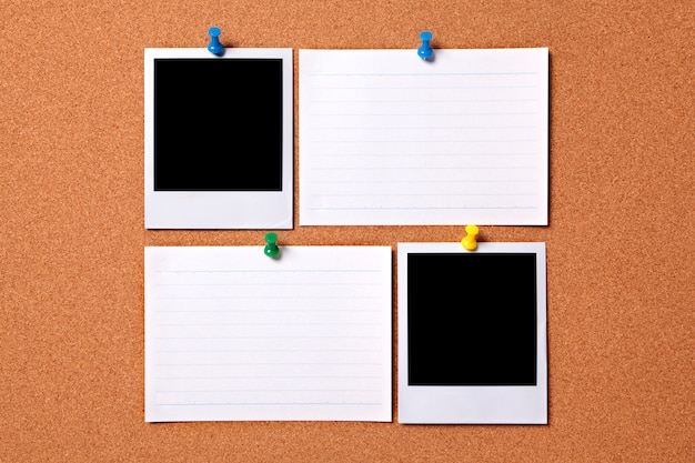 Blank polaroid tirages photo et cartes d'index