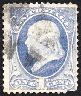 Bleu benjamin franklin timbre