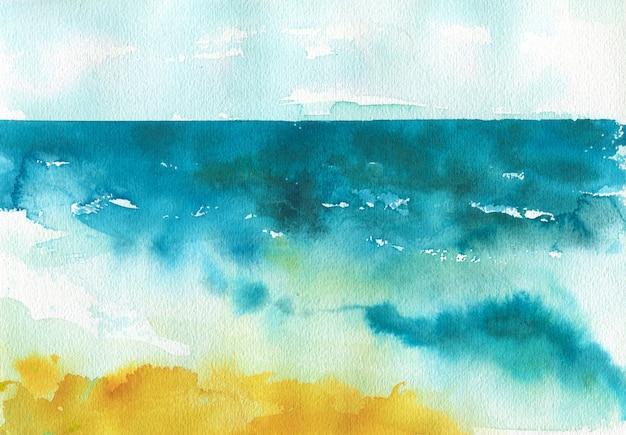 Bleu clair, marine foncé, impression colorée jaune orange.