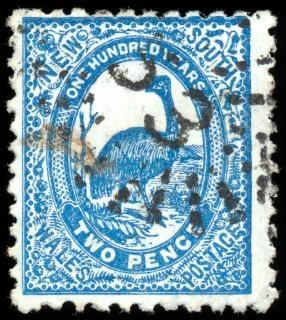 Bleu emu timbre australie
