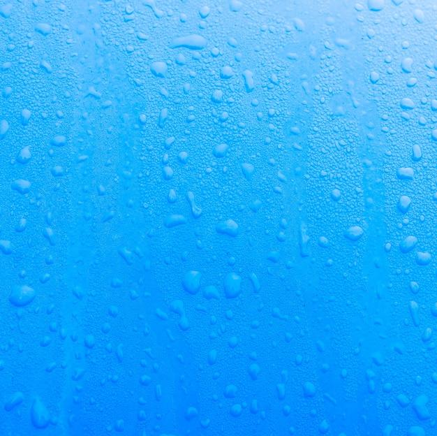 Bleu texture avec des gouttelettes d'eau
