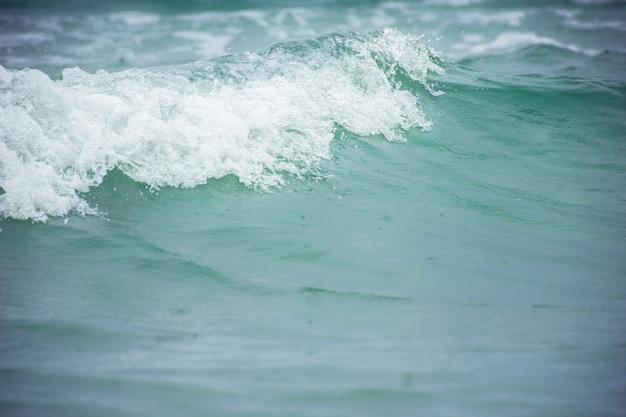 Bleu et vague à la plage