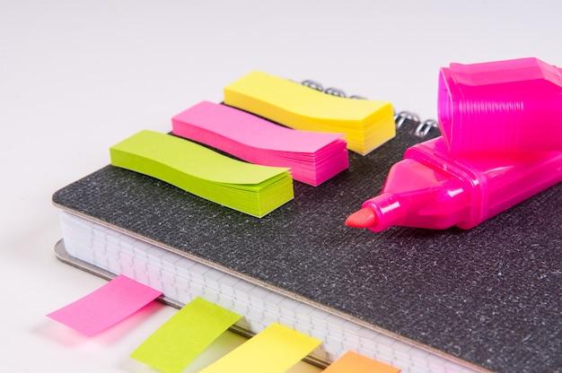 Bloc-notes de laiteries avec autocollants et stylos à pointe souple