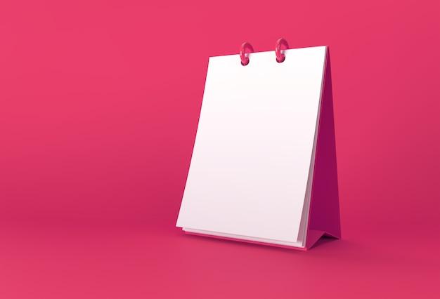 Bloc-notes de rendu 3d avec un blanc propre pour la conception et la publicité, vue en perspective de l'illustration 3d.