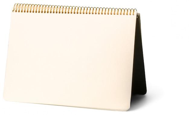 Bloc-notes vide isolé sur blanc