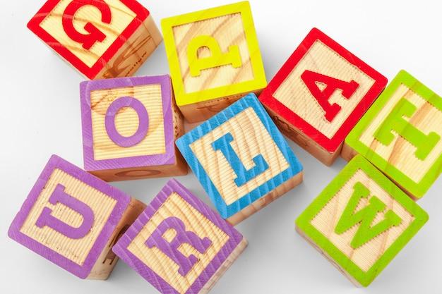 Blocs d'alphabet en bois