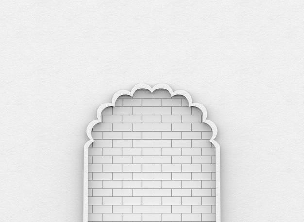 Blocs de brique blanche abstraite mur fond de porte de ciment behide. impasse ou voie impuissante
