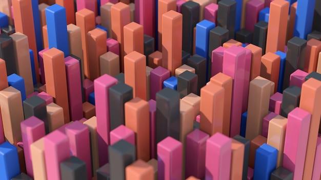 Blocs colorés. fermer. illustration abstraite, rendu 3d.