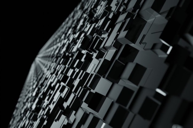 Blocs sombres numériques géométriques abstraites