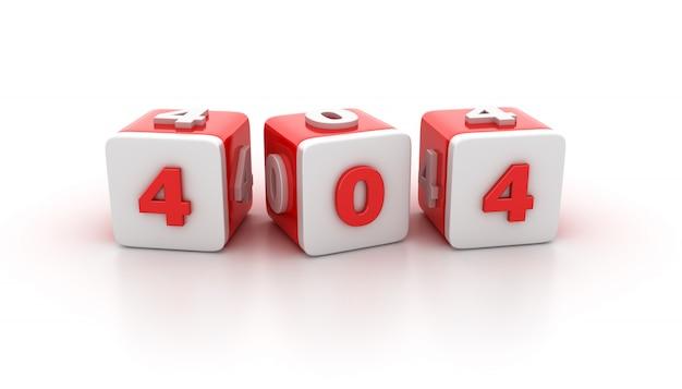 Blocs de tuile avec 404 numéros