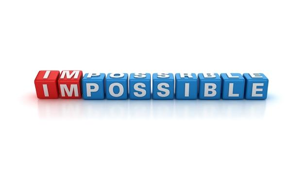 Blocs de tuile avec des mots impossibles possibles