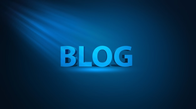 Blog internet et illustration 3d de concept de blogging