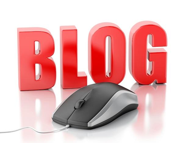 Blog de mots 3d avec souris pc