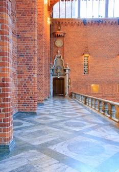Blue hall à l'hôtel de ville de stockholm