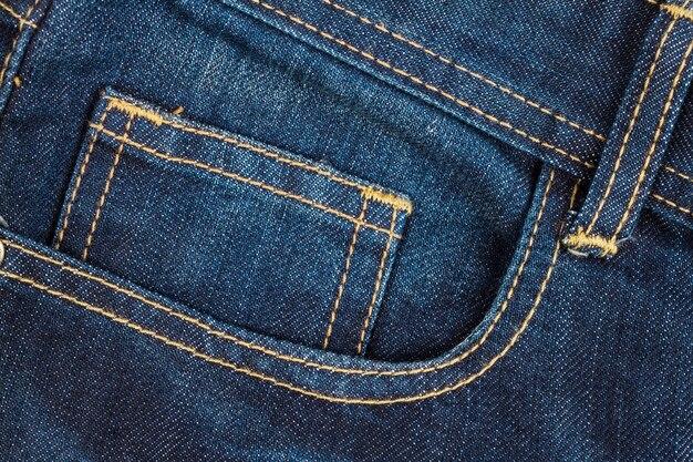 Blue jeans poche texture fond, gros plan