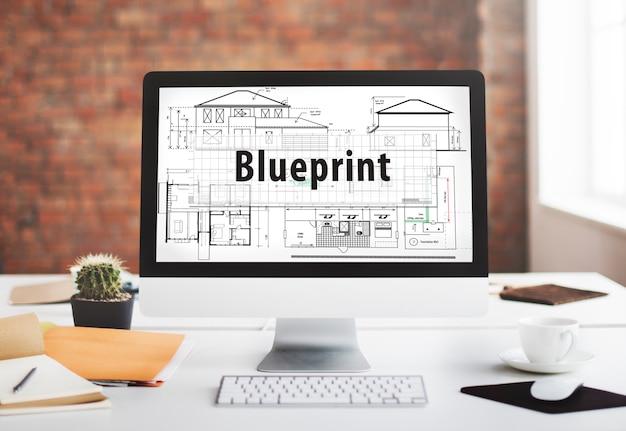 Blueprint architecture engineering concept détaillé
