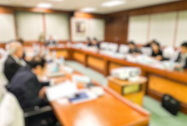 Blur ceo avec conseil d'administration conférence dans la salle de réunion