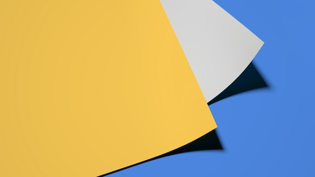 Bobine de papier bleue et jaune