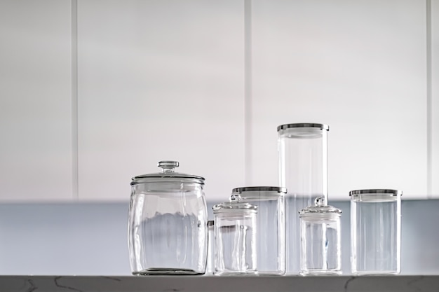 Bocaux en verre vides pour le stockage du garde-manger
