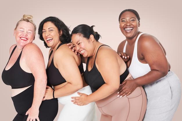 Body positivity divers vêtements de sport pour femmes courbées