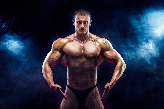 Bodybuilder fort avec six pack