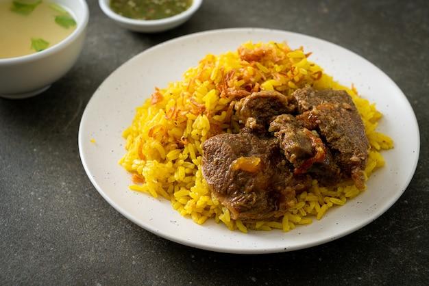 Boeuf biryani ou riz au curry et boeuf