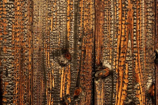 Bois carbonisé: l'ancienne technique traditionnelle japonaise (shou sugi ban).