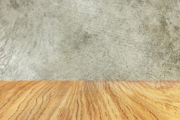 Le bois et le ciment texture image matériel pour le fond.