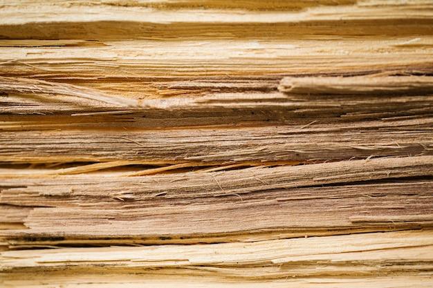 Bois de fibre à l'intérieur vue fond de texture