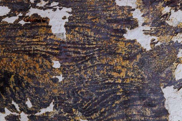 Bois rustique antique avec relief en relief en béton