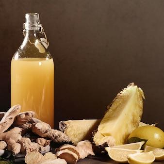Boisson ananas et limonade
