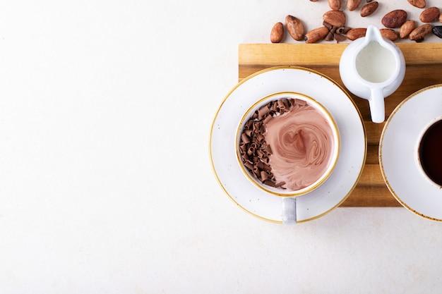 Boisson au chocolat chaud fait maison