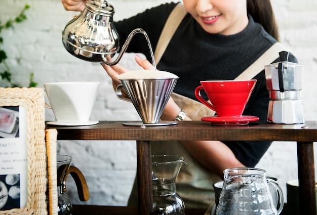 Boisson barista café boisson de caféine détente