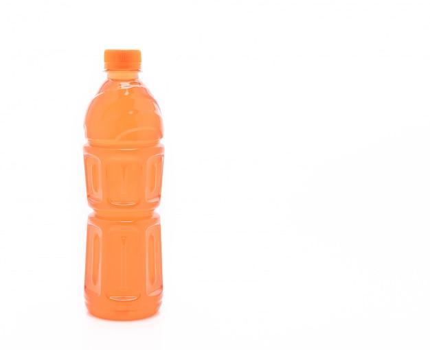 Boisson énergétique dans une bouteille orange