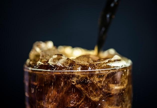 Boisson gazeuse cola macro shot