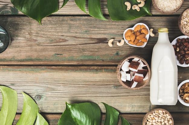 Boisson et ingrédients de succédané de lait sans produits laitiers
