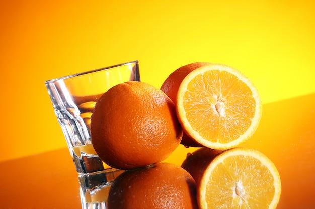 Boisson à l'orange fraîche