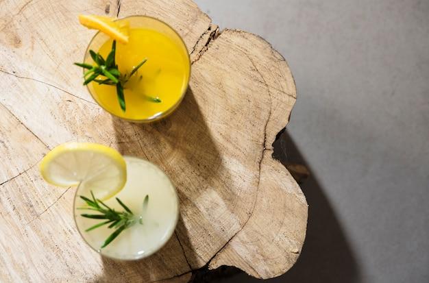 Boisson rafraîchissante à l'orange et au citron