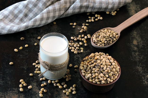 Boissons céto. lait de soja et soja. régime céto. lait végétalien.