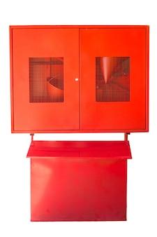 Boîte d'alarme incendie rouge pour système d'avertissement et de sécurité tirez la boîte de sécurité incendie danger isolé sur blanc