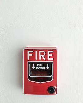 Boîte d'alarme incendie.