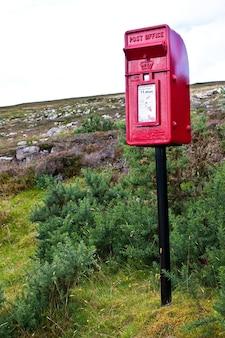Boîte aux lettres traditionnelle en ecosse, au milieu de nulle part