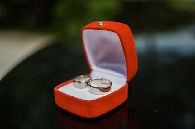 Boîte à bagues de mariage