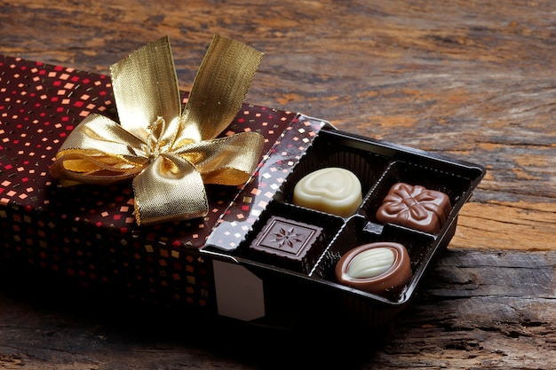 Boîte de bonbon au chocolat