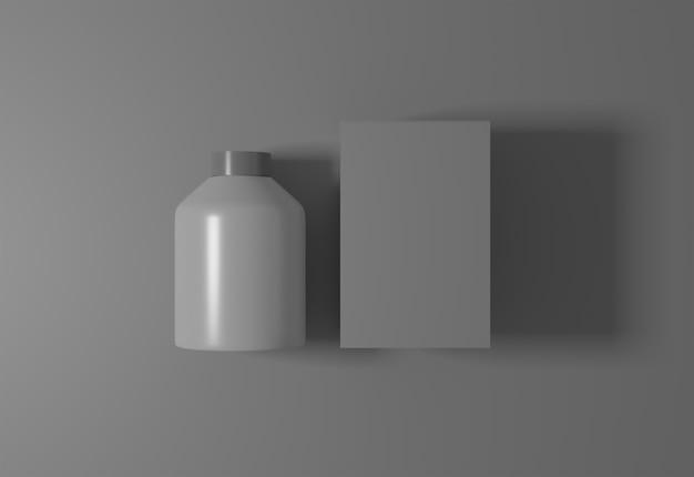 Boîte et bouteille pour votre maquette