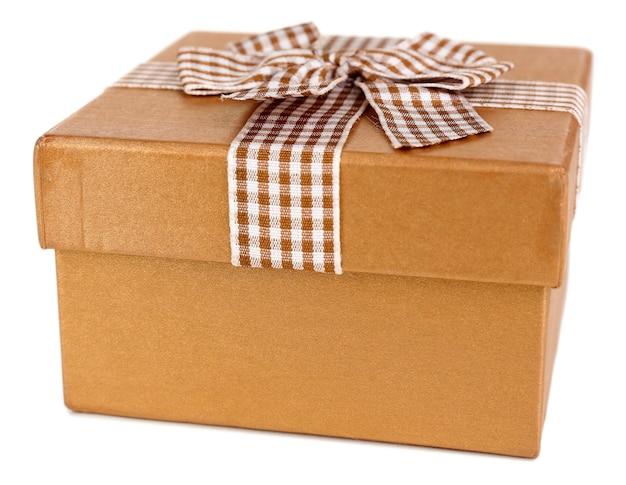 Boîte cadeau sur blanc