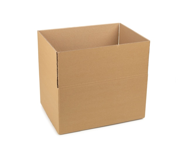 Boîte en carton pour le stockage de marchandises et colis par courrier
