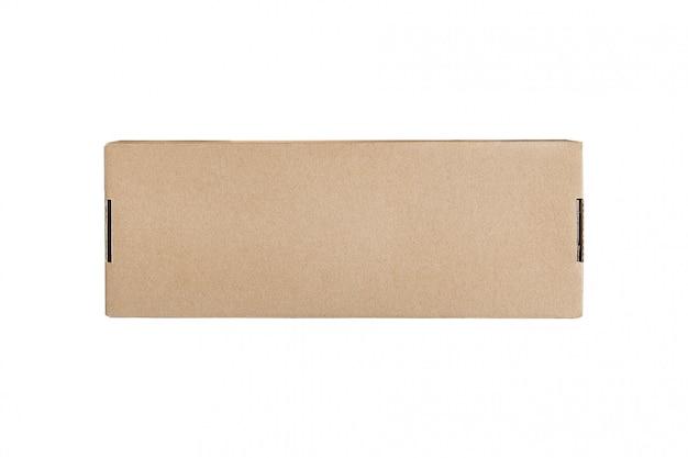 Boîte en carton rectangulaire pour la livraison. isoler. espace design
